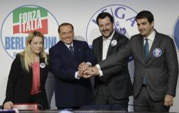 The leaders of the three rightist parties, Matteo Salvini, Berlusconi and Brothers of Italy's Giorgia Meloni - met on Sunday to agree on a common message