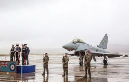 Falklands Governor Nigel Phillips pays tribute to the RAF.