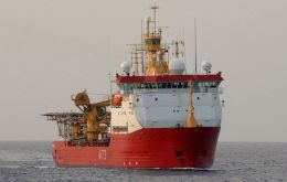 When Argentina requested international support in the search for ARA San Juan, HMS Protector was dispatched and joined the multi-nation effort (Pic RN)