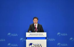 "Xi's address at the Boao Forum for Asia, (""Asian Davos"") — comes amid escalating trade tensions between China and the U.S."