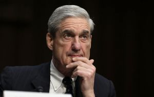Mueller is investigating whether members of Trump's 2016 campaign colluded with Russia during the U.S. presidential election.