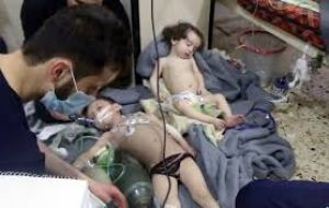 "Trump promised a decision on Syria, declaring Russia or any other nation found to share responsibility for chemical weapons attack on civilians will ""pay a price."""