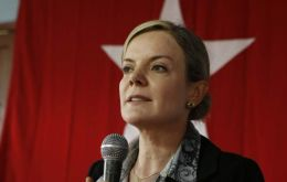 The head of the party, Gleisi Hoffman will now be known as Gleisi Lula Hoffman in official Congress documents and on the electronic voting board