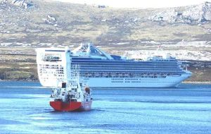 Overall, there were 108 vessel calls scheduled to visit the Falklands (some vessels visited several islands in a single trip), which is just one less than in 2007-2008