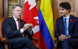 Canadian Prime minister Trudeau and Colombia's Santos were more supportive of the allies actions.