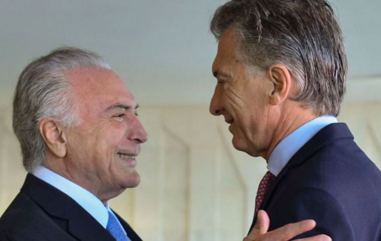 Temer and Macri condemned the use of chemical weapons but were not enthusiastic about the bombing of targets in Syria