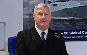 R/A Chris Gardner, assistant chief of naval staff ships and chief naval logistics officer, said the fleet could 'absolutely' play a critical role protecting the borders.