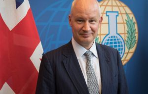 "UK's representative at OPCW, Peter Wilson, said it was imperative that Syria and Russia ""offer OPCW fact finding mission team their full co-operation"""