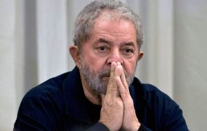 Lula was imprisoned on April 7 to start a 12-year sentence for accepting the apartment as a favor from a big construction company