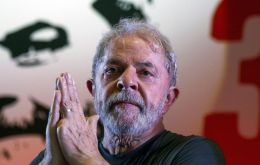 Lula was imprisoned on April 7 to begin his sentence for accepting a seaside apartment as a bribe from the OAS construction company