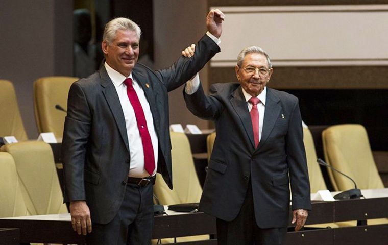 The parliament ratified the former vice president with 99.83% of the votes. HO/AFP