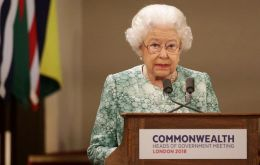 "In a ceremony at Buckingham Palace, the queen said she hoped Charles would ""carry on the important work"" of leading the Commonwealth"