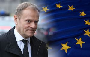 "On Wednesday, European Council president Donald Tusk warned that there will be ""no withdrawal agreement and no transition"" without a solution on Ireland."