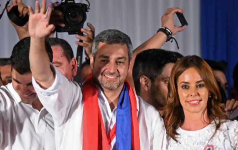 Mario Abdo Benitez won slightly more than 46% of the vote, with his centrist opponent Efrain Alegre taking almost 43% in a race that was far closer than expected.(Pic AFP)