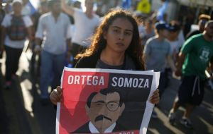 Although Ortega revoked the resolution on Social Security, the protests did not stop and now they claim for the resignation of the Nicaraguan president. JORGE CABRERA / REUTERS