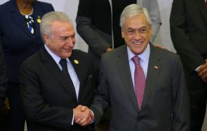 Sebastián Piñera started a commercial tour in Brazil last Thursday, in which he avoids Uruguay because the Free Trade Agreement (FTA) with Chile is blocked in the Uruguayan Parliament since 2016.