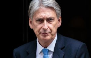 "Chancellor Hammond said the latest data ""reflects some impact from the exceptional weather that we experienced last month, but our economy is strong"