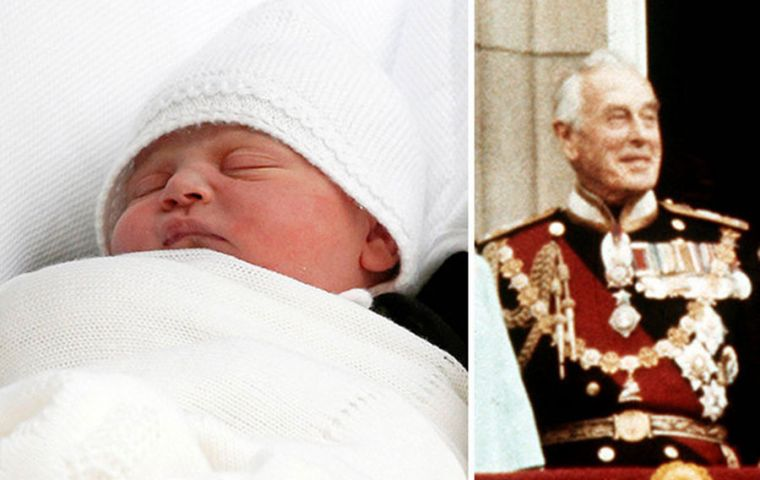 Prince Louis' name pays tribute to Prince of Wales's great-uncle, Earl Mountbatten, who was murdered by the IRA