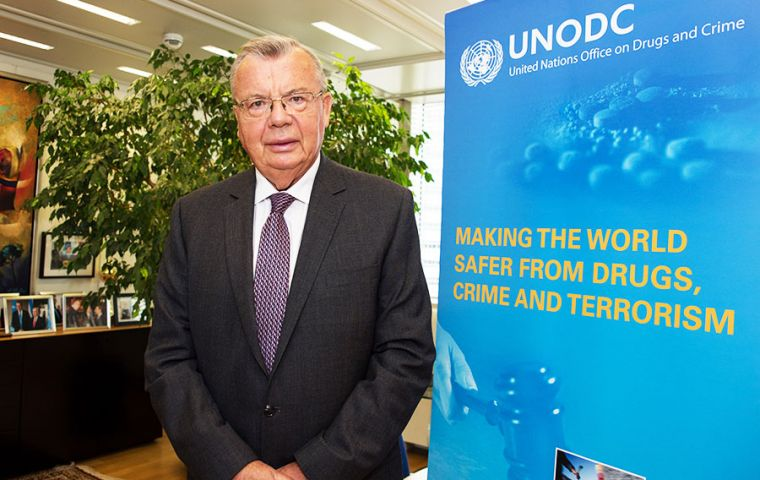 A recent estimate put the global cost of cybercrime at 600 billion US dollars.said Yury Fedotov