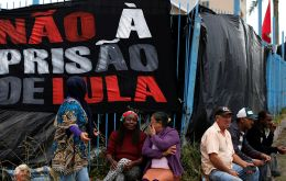 The vigil outside the federal police building began on April 7, when Lula, who is 72, entered the building to begin a 12-year sentence for corruption.