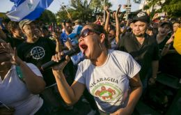 The rally took place just hours after university students at the forefront of anti-government unrest issued conditions for talks with President Daniel Ortega.
