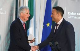 Barnier and Taoiseach Varadkar heaped further pressure on Britain to offer more detailed solutions to progress talks ahead of the next summit of EU leaders in June.