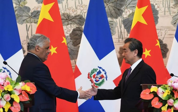 "The Dominican Republic said it believed its switch to ties with China would be ""extraordinarily positive for the future of our country"", in an official statement"