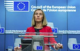 "The head of European diplomacy, Federica Mogherini: ""We ask for a review of the electoral calendar based on an agreed and credible calendar""."
