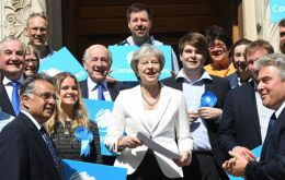 Theresa May visited Wandsworth hailing as a success the fact that Labour had failed to capture a borough that has been under Conservative control for 40 years.