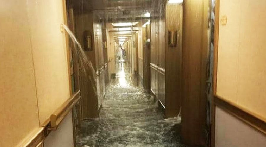 Carnival Dream Deck 9 Flooded When Pipe Bursts In Six