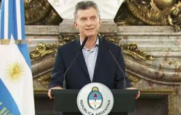 """This will allow us to face the new global scenario and avoid a crisis like the ones we have faced before in our history,"" President Macri said in a televised address"