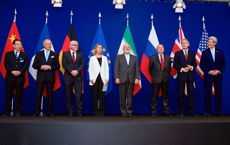 "UK, France and Germany say they ""will work with all remaining parties"" and urged the US not to obstruct its implementation of the Iran nuclear deal"