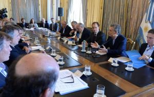 Industrial leaders and owners of small and medium-sized businesses, CAME, met with President Mauricio Macri on Friday to discuss the upcoming IMF deal.