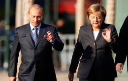 Putin and Merkel also discussed the situation in Syria as well as the chancellor's planned working visit to Russia next week, Moscow said.