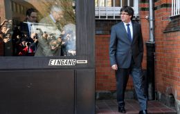"Puigdemont is in Germany fighting extradition to Spain, where he is wanted for allegedly using public funds and orchestrating an ""insurrection"""