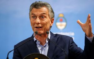 "Macri on Wednesday said the currency crisis had passed. ""The central problem is the fiscal deficit,"" Macri added. ""We have to reduce it"""