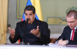 "In turn, Maduro told Erdogan ""Venezuelans are going to give a lesson on democracy and liberty to the world on Sunday."""