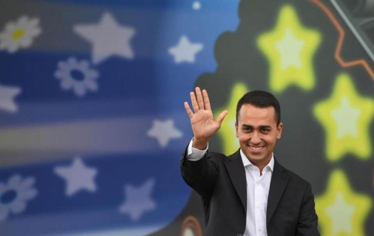 """More than 94% of 5-Star Movement members said yes to the contract for the 'Government of Change'!"", 5-Star's leader Luigi Di Maio said on Facebook"