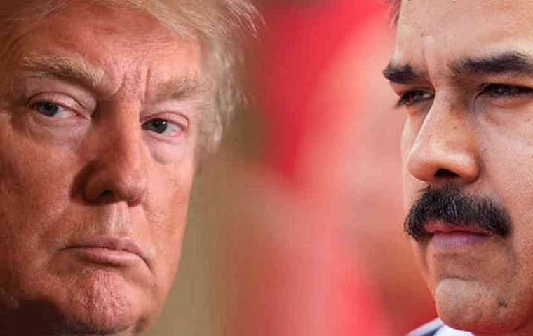 White House officials unveiled the latest executive order against Maduro less than 24 hours after the embattled populist leader secured another six-year term