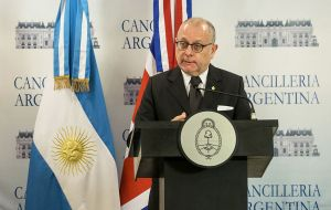"""People do not want to go to war,"" said Faurie. ""Malvinas is a fundamental bilateral issue, but there are also a whole set of areas in which we are interested"""