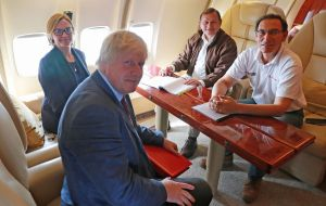 Johnson is using commercial airlines throughout his trip, apart from a flight from Lima to the Amazon rainforest, when he travelled in the Peruvian president's plane.