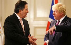 Boris Johnson with his counterpart Roberto Ampuero