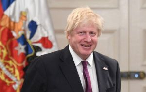 """I am here as the first British foreign secretary to come to Chile for 25 years, is to emulate Chile and to learn from you"", said Johnson"