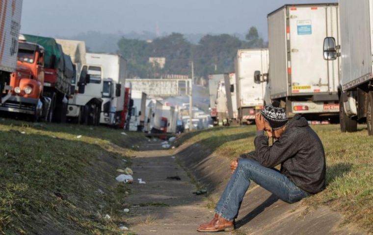 Brazil's economy runs largely on road transport and the strike to protest rising diesel prices was beginning to have serious consequences