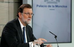 "Rajoy called the opposition's move ""opportunist"", and said the no-confidence vote ""goes against the stability in Spain and damages the economic recovery"""