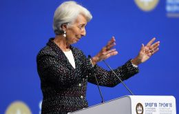 """The good news today is that the sun is shining on the global economy"", after a decade of difficult time, the economy that is doing well, Lagarde said"