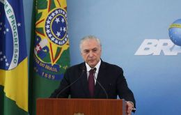 """We gave everything they have asked for,"" said Temer of the measures, expected to cost Brazilian taxpayers some 10 billion reais (US$ 2.7 billion)."
