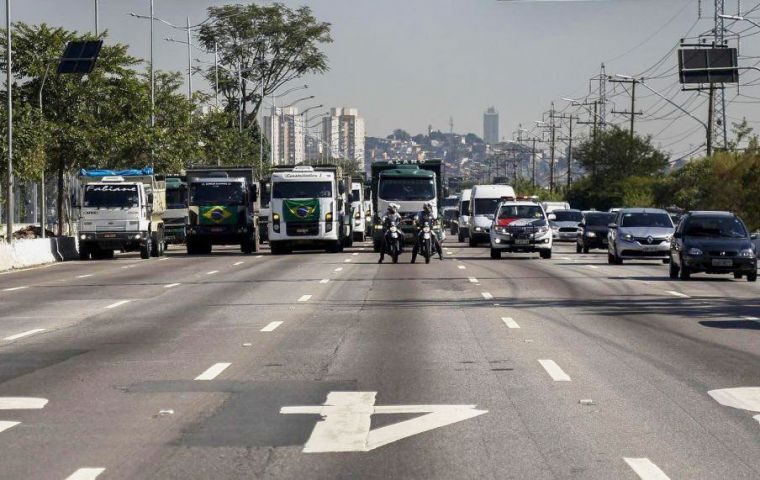 Truckers left economic hub Sao Paulo, and hundreds of communities across the country, without fuel, emptying normally gridlocked roads