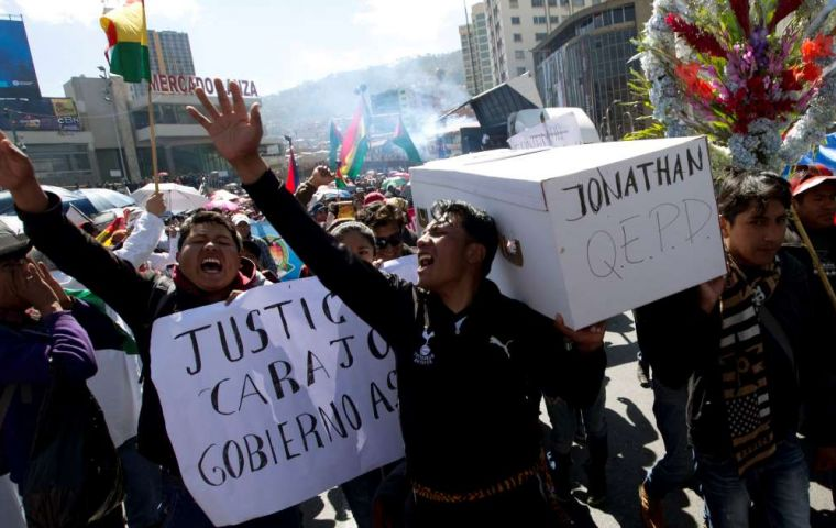 The protests come at a difficult time for President Evo Morales, who has been president for 13 years, and his popularity has fallen amid corruption scandals
