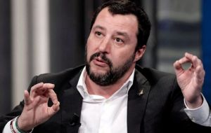 "Far-right League leader Matteo Salvini immediately pounced upon the message. ""It's crazy, in Brussels they have no shame,"" Salvini tweeted."